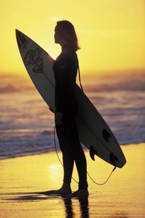 Surfer on Bells Beach