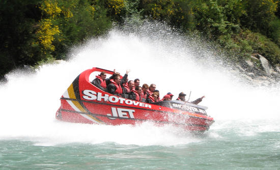 You WILL get wet! Shotover Jet, Queenstown