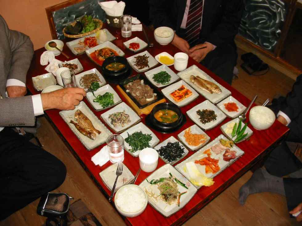 Traditional Korean dishes