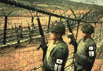Soldiers still patrol the border at the DMZ
