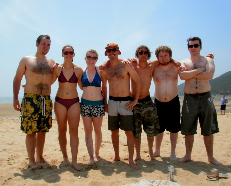 Some of the Geumchon Crew ready for a swim!