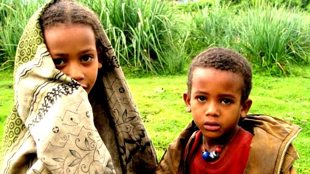 children ethiopia mountains