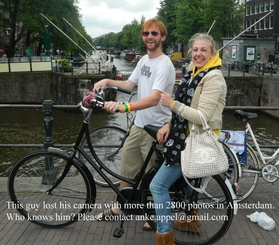 Man who lost his camera with over 2,800 photos in Amsterdam