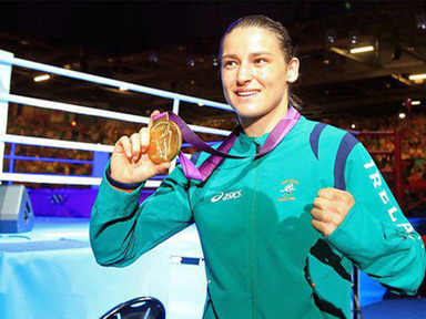 Katie Taylor with her Olympic Gold Medal...Proud day for Ireland!