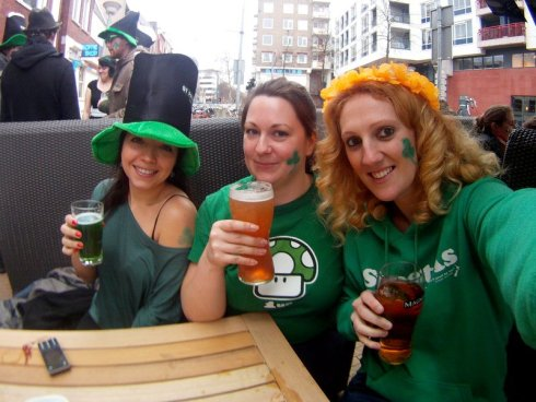 Spending Paddys day with my classmates from Brazil ans Sweden in an Irish pub in Holland!