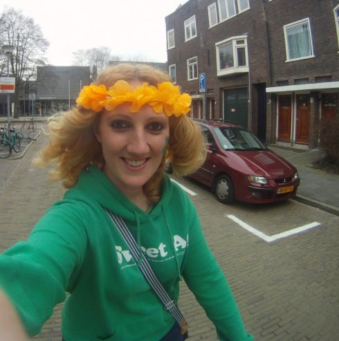 Cycling to the pub...only in Holland!!