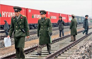 ers on the Train line that operates from the North Korean city of Kaesong, to Munsan, in the South.
