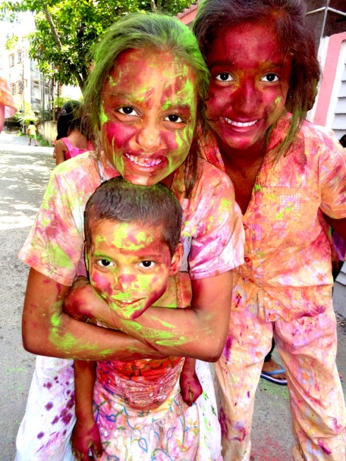 Kasba Girls enjoying Holi