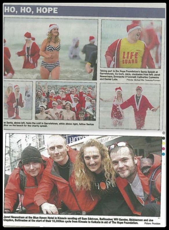 Being PR coordinator lead to me being photographed in lots of newspapers!