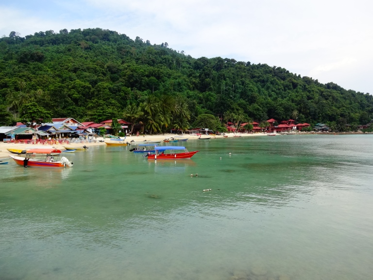 View of Coral Bay - the nicest part of the small island