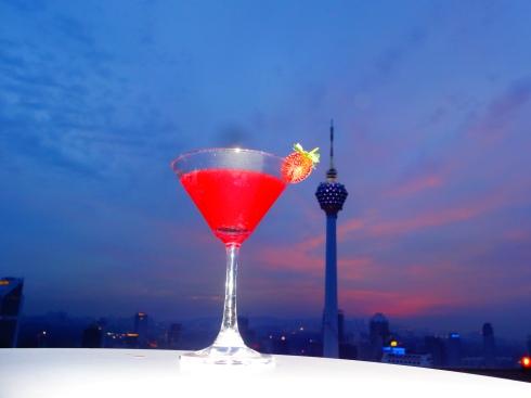 Sunset cocktails on the Helipad = AMAZING!