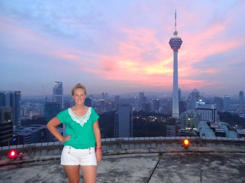 Posing on the Helipad - 36th floor of the Menara KH