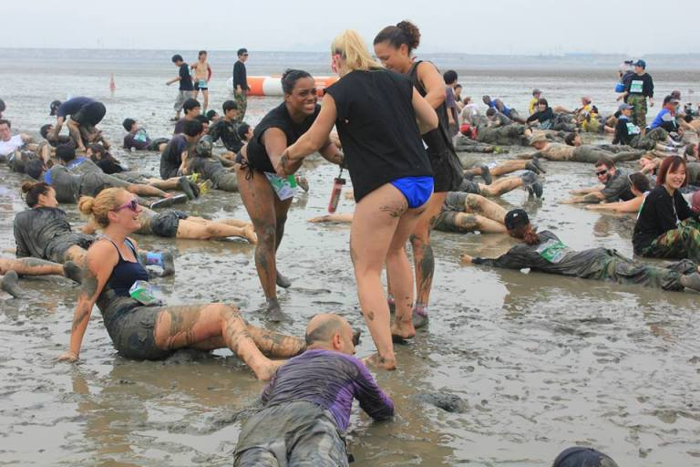 Time to get muddy - race warm up exercises!