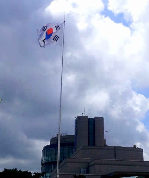 Flag flying high on Korean Independence Day