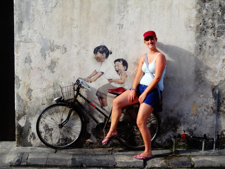 georgetown street art bike