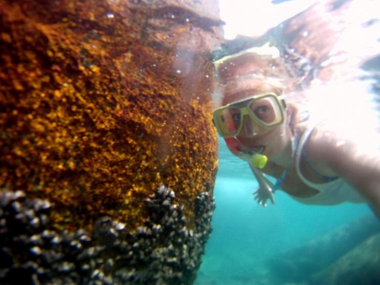 snorkeling gopro