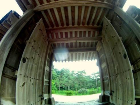 Doorway at Samneung Tombs, Paju