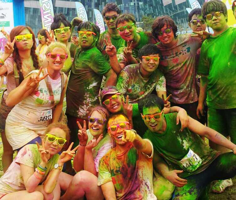 group photo color me rad