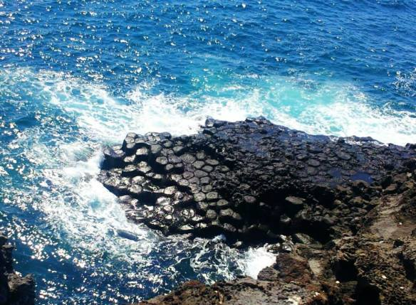 A mini version of The Giants Causeway - Volcanic Rock Column Formations