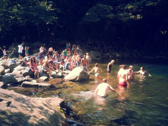 There's ALWAYS time for some secret swimming in secret rock pools