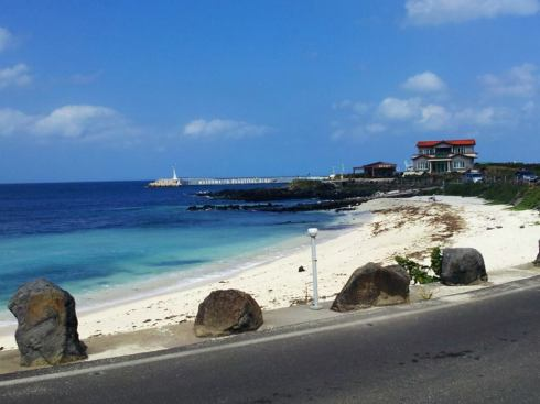 One of the beautiful beaches on Udo Island