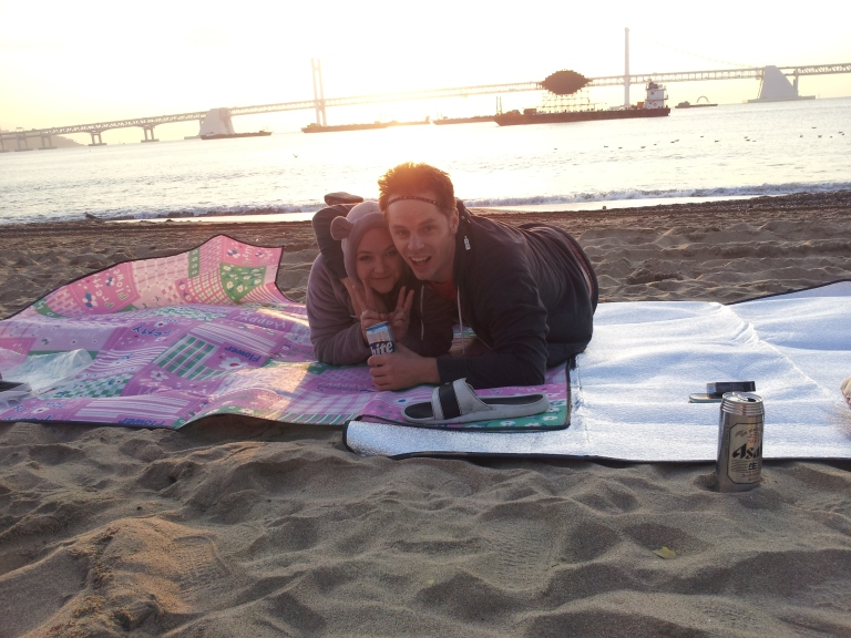 Blankets, Beach and good friends. What more do you need to be happy?