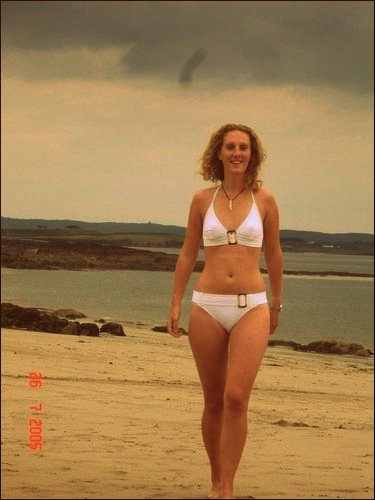 Back in 2005, when I had the confidence to wear a white bikini and still have a smile on my face.