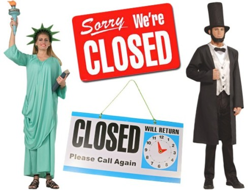 government shutdown costume
