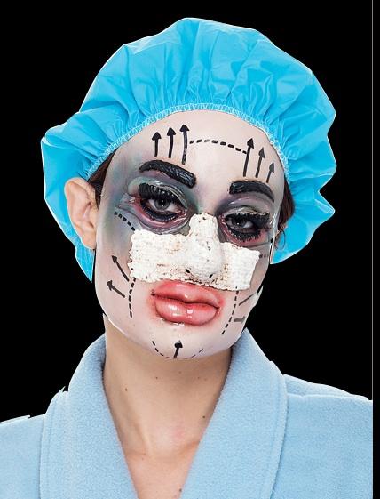 plastic surgery halloween mask