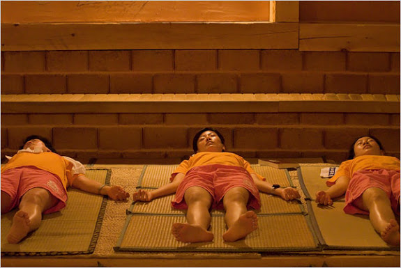 sleeping suana gym
