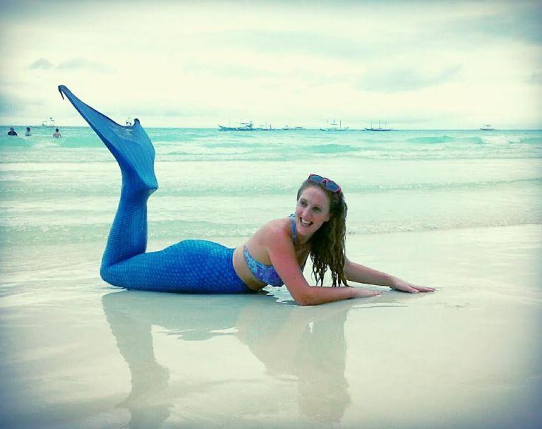 mermaid posing boracay
