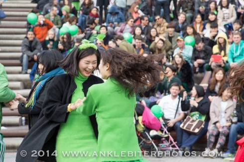 A sea of green and smiles and laughter. Photo by Stephanie Anglemyer