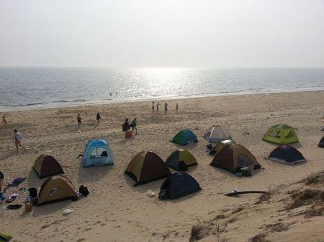 camping on island