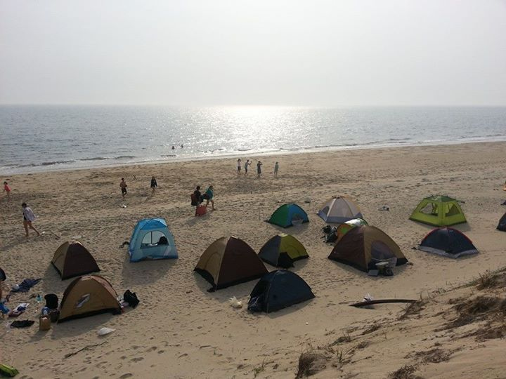 camping on island