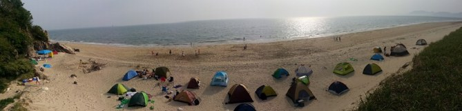 panorama beach shot