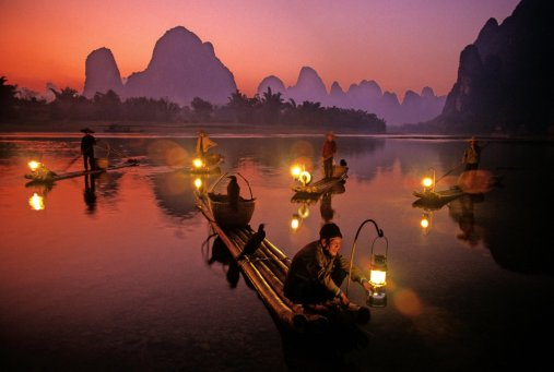fishing light show guilin