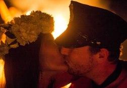 Couple Kiss at Korea Burn